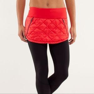 Lululemon | Hot Cheeks Red Quilted Running Skirt